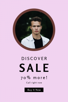 Portrait design template for sales - #banner #businnes #sales #CallToAction #salesbanner #white #fashion #man #posing #shirt #green