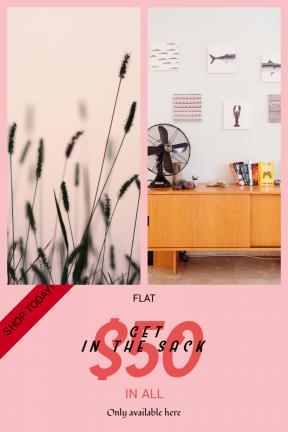 Portrait design template for sales - #banner #businnes #sales #CallToAction #salesbanner #silhouette #of #stem #field #depth #soft #credit #wood #furniture
