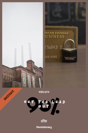 Portrait design template for sales - #banner #businnes #sales #CallToAction #salesbanner #building #cream #powerplant #towers #color #paper #toiletry #perfume #plant #container