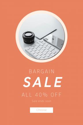 Portrait design template for sales - #banner #businnes #sales #CallToAction #salesbanner #computer #e-mount #shape #touchpad #developer #interface #symbols #phone #sonyalpha #shapes