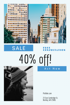 Portrait design template for sales - #banner #businnes #sales #CallToAction #salesbanner #rectangle #and #woman #skyscraper #building #san