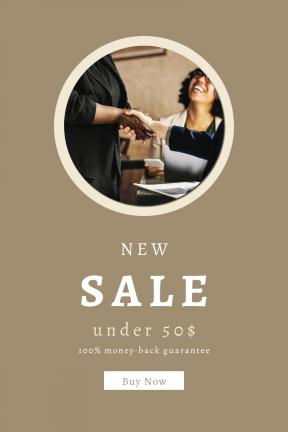 Portrait design template for sales - #banner #businnes #sales #CallToAction #salesbanner #restaurant #trust #support #team #person #hand #shaking #woman #smiling