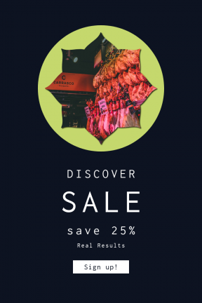 Portrait design template for sales - #banner #businnes #sales #CallToAction #salesbanner #drink #label #frame #bread #madrid #ragged #ham #inset #shape