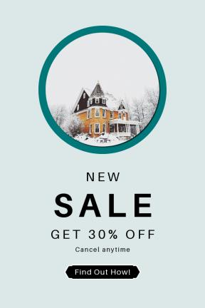 Portrait design template for sales - #banner #businnes #sales #CallToAction #salesbanner #round #snow #hotel #winter #cold #turret #hexagon
