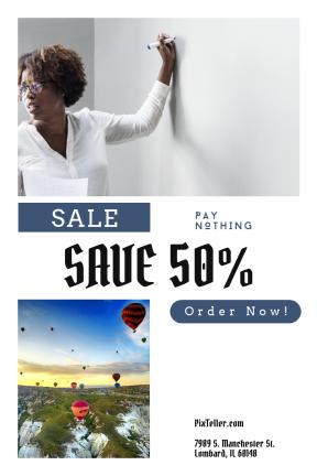 Portrait design template for sales - #banner #businnes #sales #CallToAction #salesbanner #circle #sketch #trainer #mountain #lesson