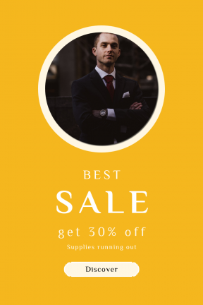 Portrait design template for sales - #banner #businnes #sales #CallToAction #salesbanner #collar #young #watch #clouds #label #light #and #fashion #white #portrait
