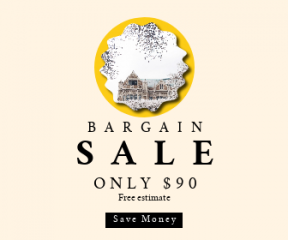 Square large web banner template for sales - #banner #businnes #sales #CallToAction #salesbanner #raggedborders #washington #student #jagged #frame #squares #decorative #spring