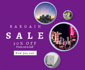 Square large web banner template for sales - #banner #businnes #sales #CallToAction #salesbanner #building #store #plant #night #binding #and #traditional