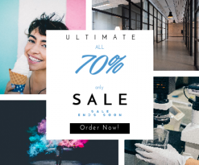 Square large web banner template for sales - #banner #businnes #sales #CallToAction #salesbanner #square #credit #sliding #couch #shape #smile #blue