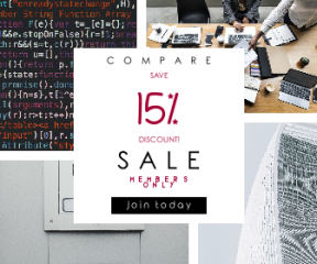 Square large web banner template for sales - #banner #businnes #sales #CallToAction #salesbanner #software #collaboration #entry #minimal #shapes #www #science #intercome