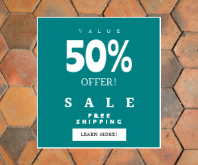 Square large web banner template for sales - #banner #businnes #sales #CallToAction #salesbanner #cobblestone #pattern #material #wall #flooring #tile #brickwork #floor