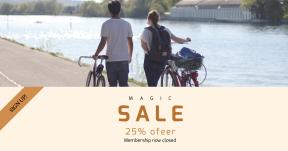 Card design template for sales - #banner #businnes #sales #CallToAction #salesbanner #bike #walking #lazy #city #team #bicycle #spring