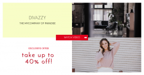 Card design template for sales - #banner #businnes #sales #CallToAction #salesbanner #hair #smile #hands #room #pink #modern #arrows #woman #right