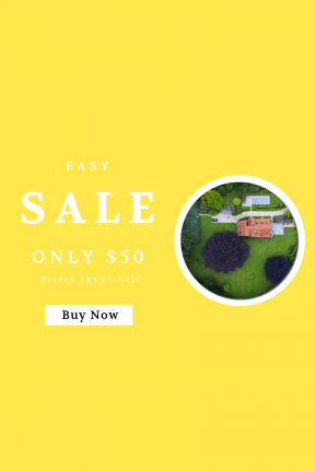 Portrait design template for sales - #banner #businnes #sales #CallToAction #salesbanner #sidewalk #foliage #house #pool #home #building #court #rooftop #poolhouse #view