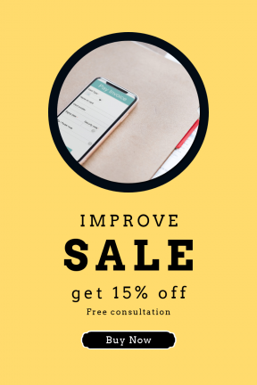Portrait design template for sales - #banner #businnes #sales #CallToAction #salesbanner #backgrouns #shape #corners #app #notes #strips #technology #phone