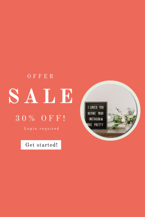 Portrait design template for sales - #banner #businnes #sales #CallToAction #salesbanner #minimal #loved #instagram #letter #pretty #lettering #type