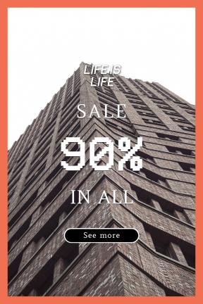 Portrait design template for sales - #banner #businnes #sales #CallToAction #salesbanner #black #modern #clinker #architecture #essentials #high #tower #city #brick