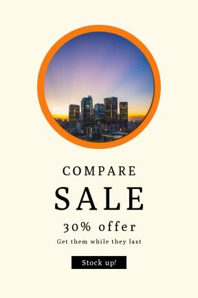 Portrait design template for sales - #banner #businnes #sales #CallToAction #salesbanner #economy #color #building #lights #sunset #dark