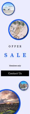 Skyscraper wide web banner template for sales - #banner #businnes #sales #CallToAction #salesbanner #park #tennis #building #view #bins #blue