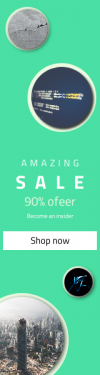 Skyscraper wide web banner template for sales - #banner #businnes #sales #CallToAction #salesbanner #construction #neon #business #up #clothing #stone #wall #mist