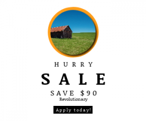 Square large web banner template for sales - #banner #businnes #sales #CallToAction #salesbanner #barn #grass #blue #old #summer #house #clear