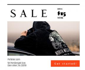 Square large web banner template for sales - #banner #businnes #sales #CallToAction #salesbanner #man #photographer #hoody #nature #fog #boy #car #model