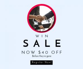 Square large web banner template for sales - #banner #businnes #sales #CallToAction #salesbanner #discussion #entrepreneur #handshake #formal #modern