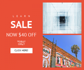 Square large web banner template for sales - #banner #businnes #sales #CallToAction #salesbanner #city #shanghai #minimal #industrial #ladder #leading #tree #reflection #design