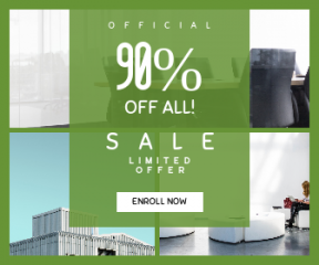 Square large web banner template for sales - #banner #businnes #sales #CallToAction #salesbanner #room #meeting #workplace #london #lounge #urban #conference #space