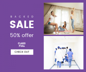 Square large web banner template for sales - #banner #businnes #sales #CallToAction #salesbanner #fashion #exercise #yoga #surgeon #healthcare #building #medical