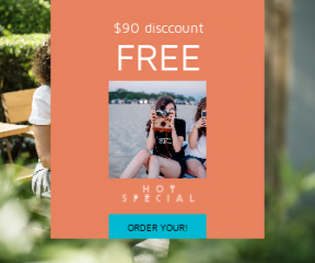 Square large web banner template for sales - #banner #businnes #sales #CallToAction #salesbanner #meeting #a #summer #shop #planning #out #friend
