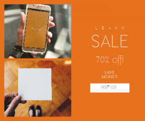 Square large web banner template for sales - #banner #businnes #sales #CallToAction #salesbanner #phone #tech #card #shoe #style #paper #blank #placeholder #design #electronic