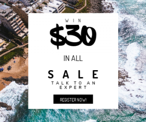 Square large web banner template for sales - #banner #businnes #sales #CallToAction #salesbanner #view #contrast #waves #water #south #beach #wafe