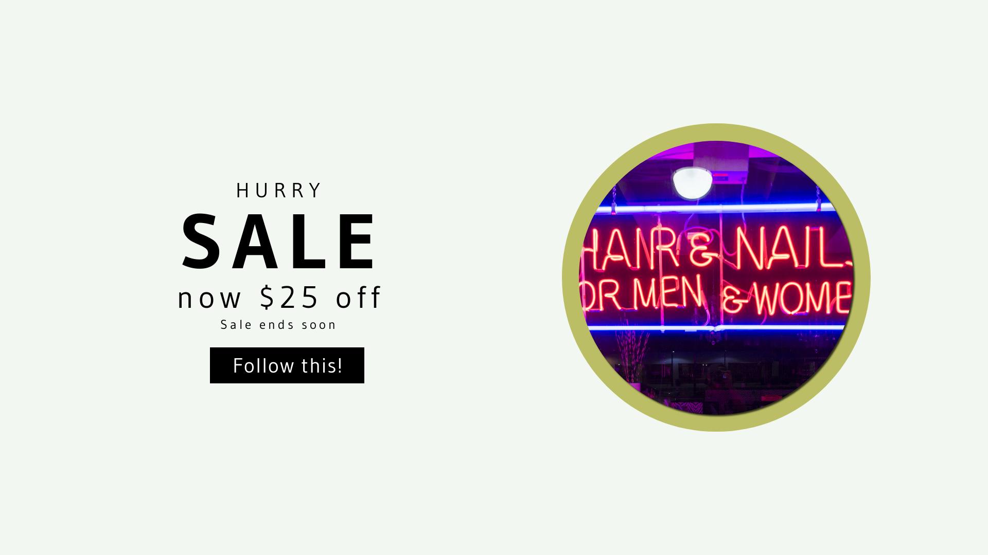 Neon, Beauty, Salon, Sign, Lights, Nails, Hair, Banner, Businnes, Sales, CallToAction, Salesbanner, White,  Free Image