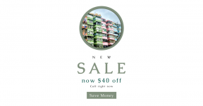 Card design template for sales - #banner #businnes #sales #CallToAction #salesbanner #apartment #facade #building #acorn #colourful #exterior #balcony