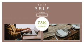 Card design template for sales - #banner #businnes #sales #CallToAction #salesbanner #farmhouse #table #furniture #electronic #typing #professional #knife