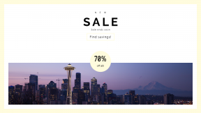 FullHD image template for sales - #banner #businnes #sales #CallToAction #salesbanner #mount #cityscape #space #dawn #ranier #purple #skyscraper #sky