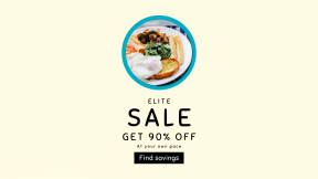 FullHD image template for sales - #banner #businnes #sales #CallToAction #salesbanner #sausage #shapes #circles #plate #breakfast #brunch