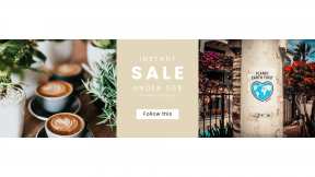 FullHD image template for sales - #banner #businnes #sales #CallToAction #salesbanner #shop #tree #green #latte #shape #coffee #nursery #poster