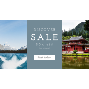 Image design template for sales - #banner #businnes #sales #CallToAction #salesbanner #japanese #tree #pine #fjord #lake #from #nature #resources #japan #forest