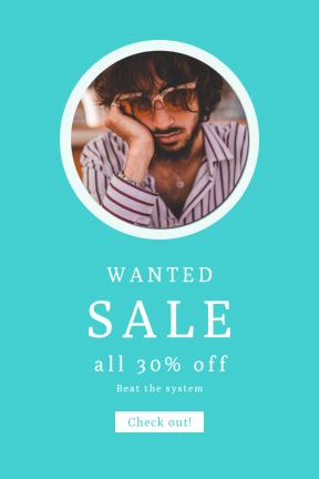 Portrait design template for sales - #banner #businnes #sales #CallToAction #salesbanner #stripe #tired #portrait #sleep #sunglasses