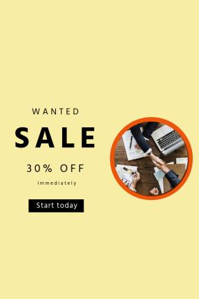 Portrait design template for sales - #banner #businnes #sales #CallToAction #salesbanner #companion #business #partnership #white #collaboration #collar