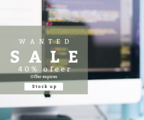 Square large web banner template for sales - #banner #businnes #sales #CallToAction #salesbanner #workplace #job #html #personal #computer #programming