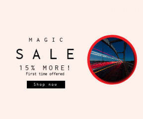 Square large web banner template for sales - #banner #businnes #sales #CallToAction #salesbanner #highway #exposure #night #bridge #light #dark