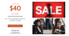 Card design template for sales - #banner #businnes #sales #CallToAction #salesbanner #worker #rounded #presentation #suit #manager #technology #training #laptop