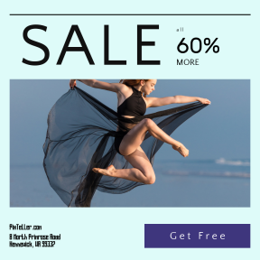 Image design template for sales - #banner #businnes #sales #CallToAction #salesbanner #ballerina #float #air #ocean #dance #woman #ballet