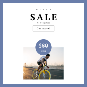 Image design template for sales - #banner #businnes #sales #CallToAction #salesbanner #yellow #person #fixie #hour #guy