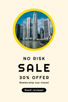 Portrait design template for sales - #banner #businnes #sales #CallToAction #salesbanner #urban #rounded #wavy #waterfront #architecture #lake #label #bands #business