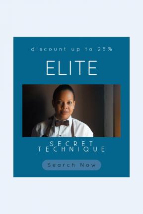 Portrait design template for sales - #banner #businnes #sales #CallToAction #salesbanner #woman #teacher #shape #essentials #bow #geometrical #tie #black #service #coffee