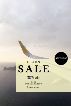 Portrait design template for sales - #banner #businnes #sales #CallToAction #salesbanner #circular #travel #rock #fly #shapes #transportation #airplane #cloud #button #view